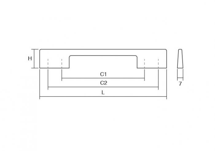 Maner pentru mobilier Dino negru mat L:156 mm 1