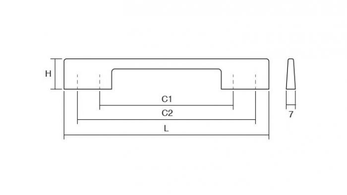 Maner pentru mobilier Dino, nichel periat, L:156 mm 2