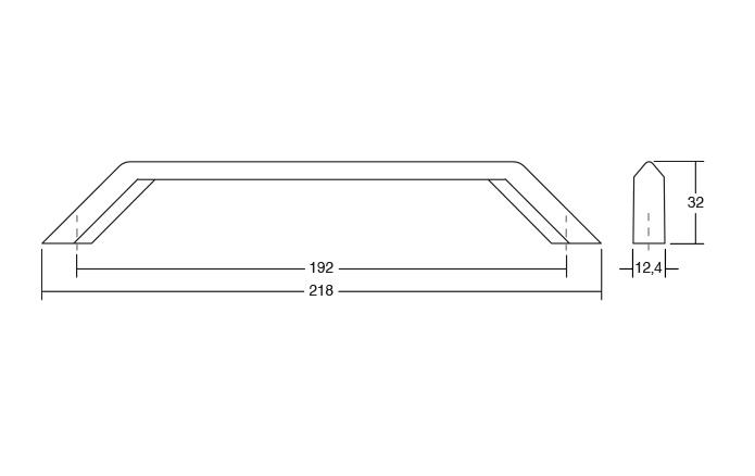 Maner pentru mobilier Feltre finisaj negru mat 1