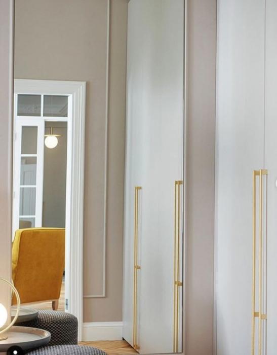 Maner pentru mobilier Graf Mini Long, finisaj alama intunecata periata, L: 1200 mm 3
