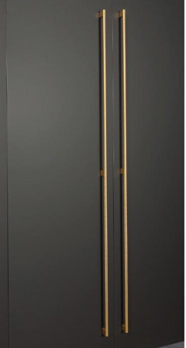 Maner pentru mobilier Graf Mini Long, finisaj alama intunecata periata, L: 1200 mm 1