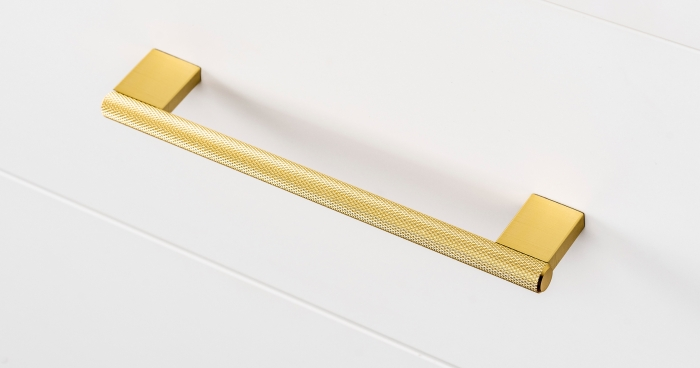 Maner pentru mobilier Graf2, finisaj alama intunecata periata, L= 182 mm [1]