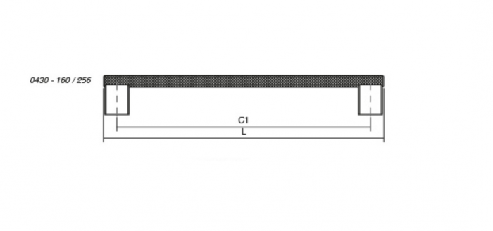 Maner pentru mobilier Graf2 finisaj otel inoxidabil, L= 278 mm 1