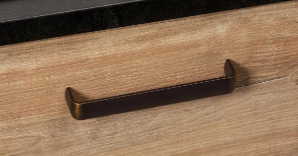 Maner pentru mobilier Mito finisaj alama antichizata, L:166 mm 0