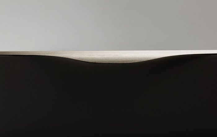 Maner pentru mobilier Noma, otel inoxidabil, L: 350 mm [1]