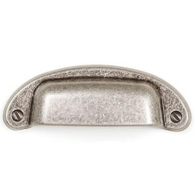 Maner pentru mobilier Petra, argint antichizat, L: 97 mm 0