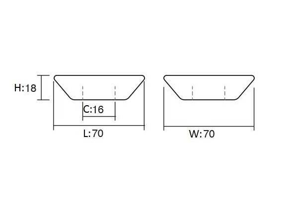 Maner pentru mobilier Piramidal alb 1