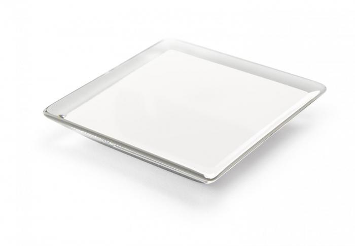 Maner pentru mobilier Piramidal alb 0