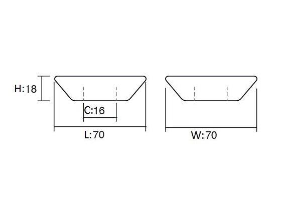 Maner pentru mobilier Piramidal negru [1]