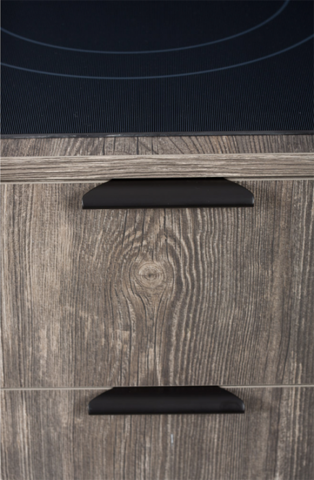 Maner pentru mobilier Ritta, negru mat, L:130 mm 0