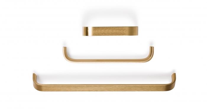 Maner pentru mobilier Sense Mini L:103 mm finisaj alama intunecata periata 1