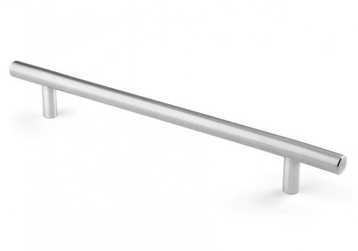 Maner pentru mobilier Tub, finisaj otel inoxidabil, L:192 mm 0