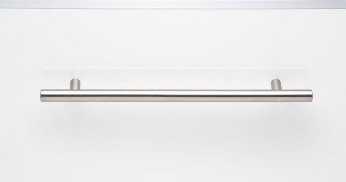 Maner pentru mobilier Tub, finisaj otel inoxidabil, L:192 mm 1