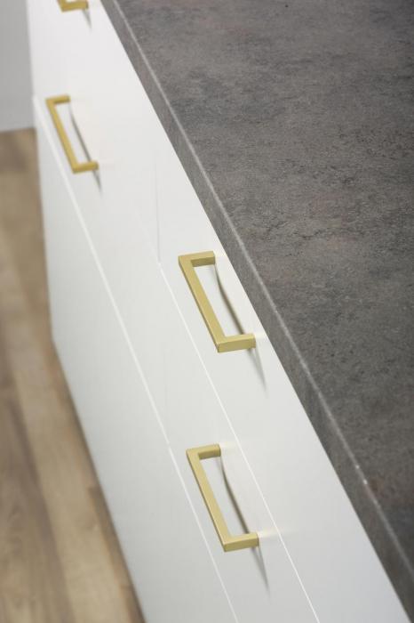 Maner pentru mobilier U, alama periata, L: 136,5 mm 1
