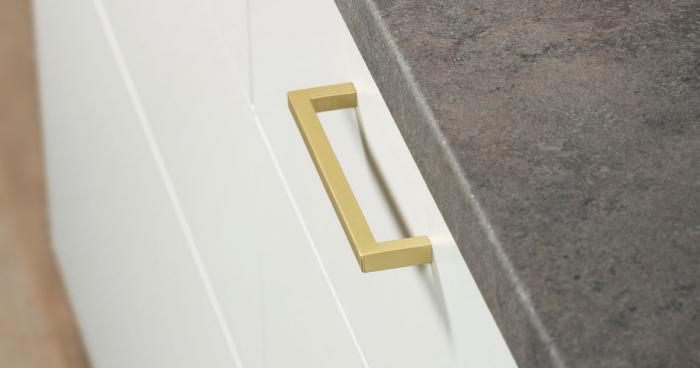 Maner pentru mobilier U alama periata L:168.5 mm [2]