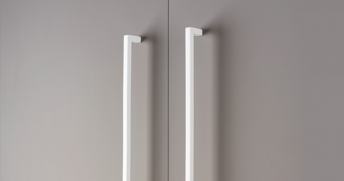 Maner pentru mobilier U, alb mat, L:200,5 mm 1