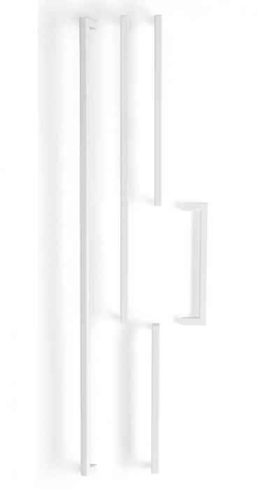 Maner pentru mobilier U, alb mat, L:500,5 mm 3