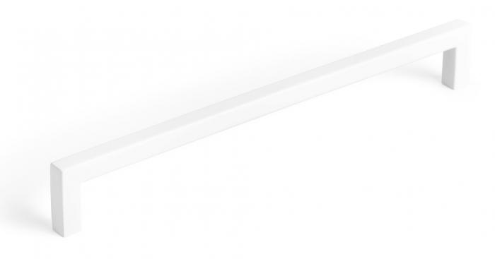 Maner pentru mobilier U, alb mat, L:500,5 mm 0
