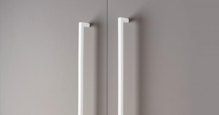 Maner pentru mobilier U, alb mat, L:500,5 mm 1