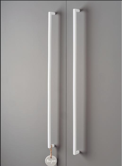Maner pentru mobilier U, alb mat, L:500,5 mm 4