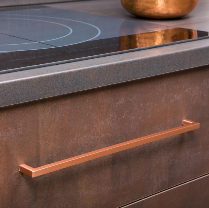 Maner pentru mobilier U cupru periat L:136.5 mm [2]