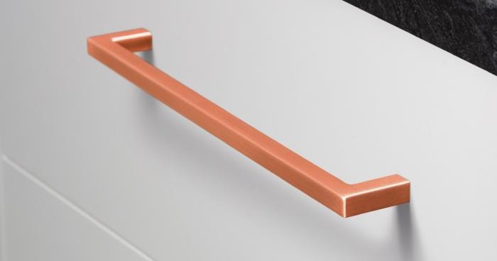 Maner pentru mobilier U cupru periat L:200,5 mm 1