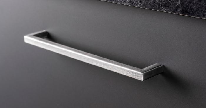 Maner pentru mobilier U, gri periat, L: 136,5 mm 0
