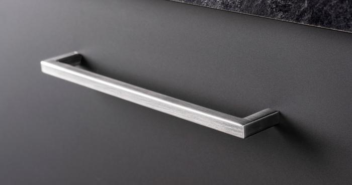 Maner pentru mobilier U, gri periat, L: 200,5 mm 0