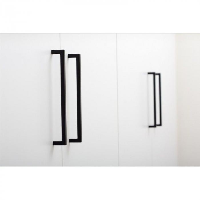 Maner pentru mobilier U, negru mat, L: 200,5 mm [1]