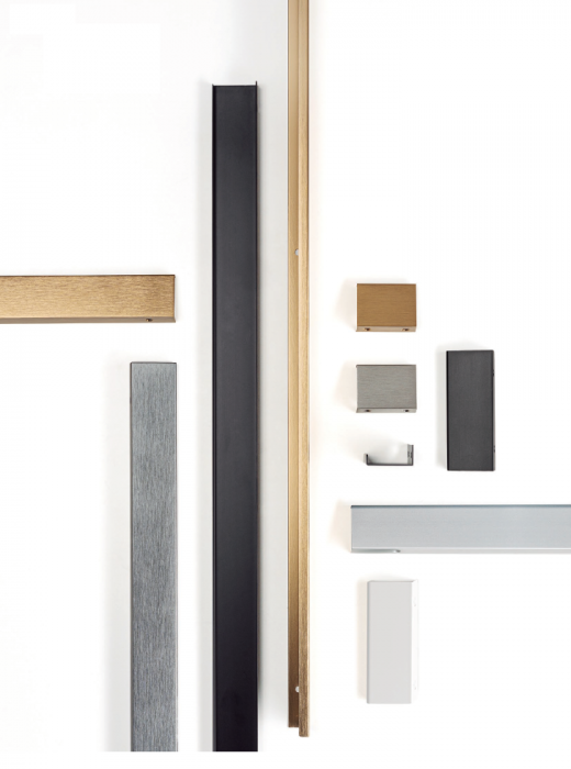 Maner pentru mobilier Way, finisaj aluminiu, L:800 mm 2