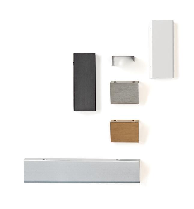 Maner pentru mobilier Way, finisaj aluminiu, L:800 mm 1