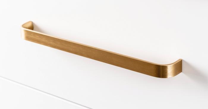 Maner pentru mobilier Sense Mini, finisaj alama shadow periata, L:103 mm [0]