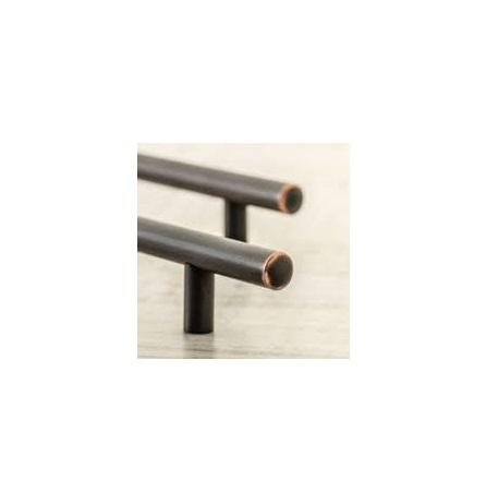 Maner vintage cilindric pentru mobilier RELING, finisaj cupru antichizat L:400 mm 1