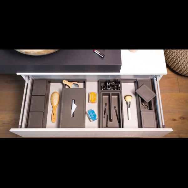 Organizator sertar pentru produse de machiaj ,tip VL , gri orion, 350 mm 4