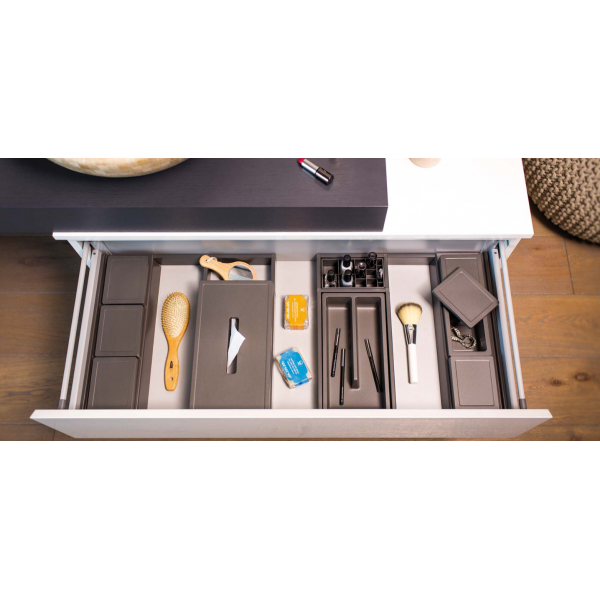 Organizator sertar pentru produse de machiaj ,tip VL , gri orion, 400 mm 5