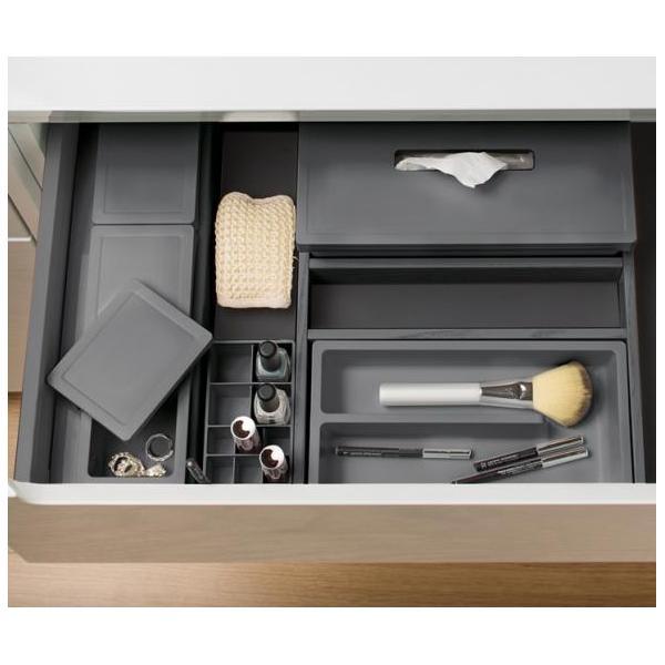 Organizator sertar pentru produse de machiaj ,tip VL , gri orion, 400 mm 4