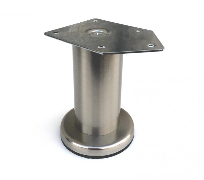 Picior cilindric D:42 mm, H:100 mm finisaj inox 0
