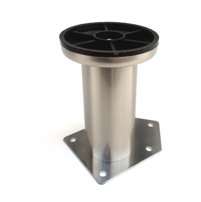Picior cilindric D:42 mm, H:100 mm finisaj inox 1