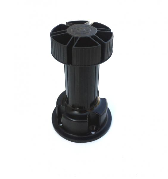 Picior cilindric negru H:120 mm pentru mobilier 2