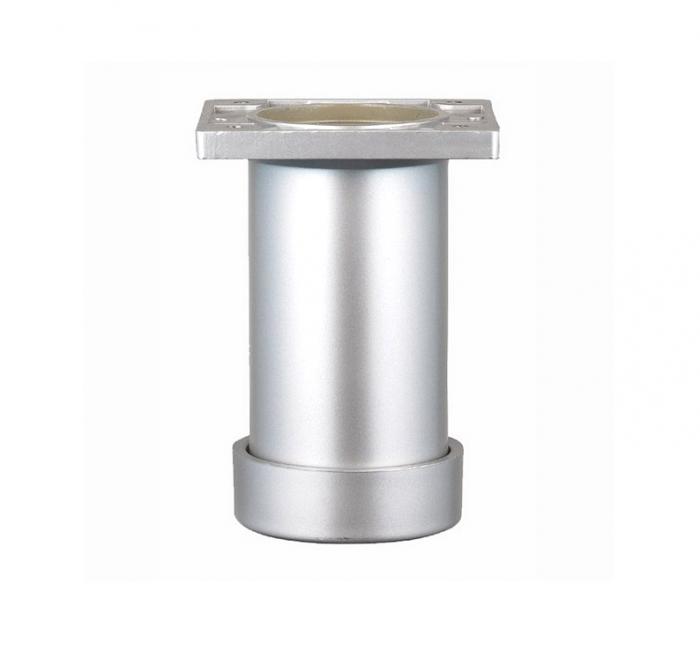 Picior SDF cilindric reglabil pentru mobilier, H:100 mm, finisaj aluminiu 0