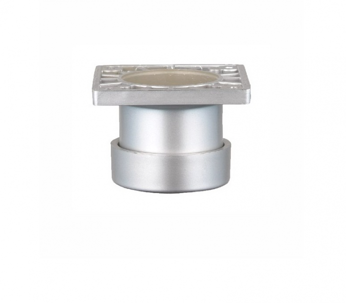 Picior SDF cilindric reglabil pentru mobilier, H:50 mm, finisaj aluminiu 0