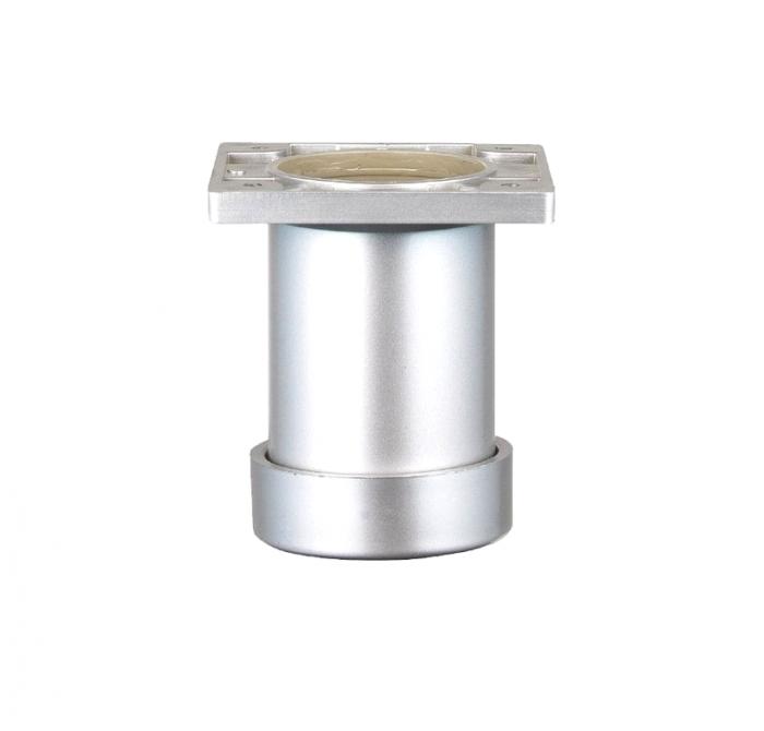 Picior SDF cilindric reglabil pentru mobilier, H:80 mm, finisaj aluminiu 0