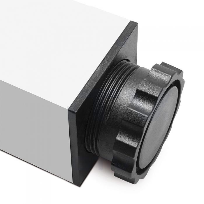 Picior cu profil patrat 46x46 mm, H710, pentru masa 1