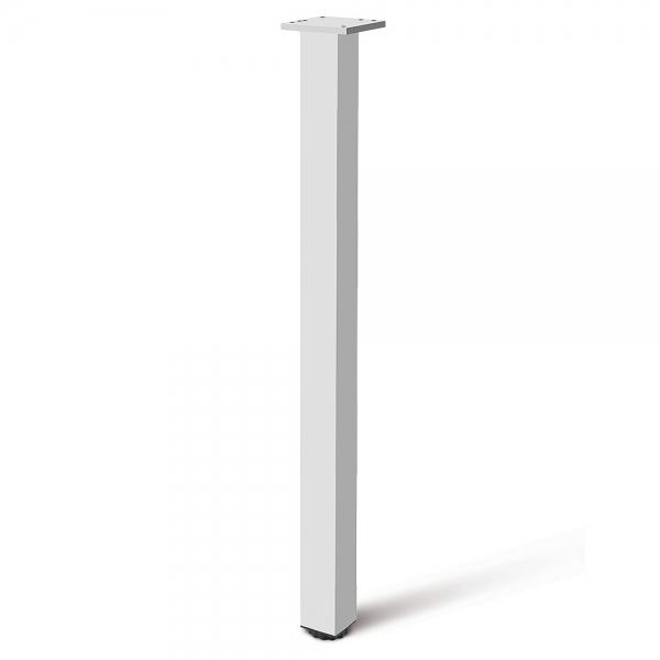 Picior cu profil patrat 60x60 mm, H710, finisaj aluminiu, pentru masa, 0