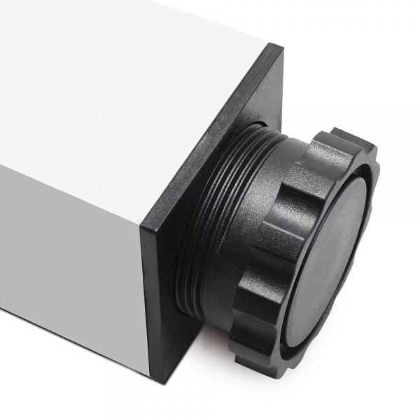 Picior cu profil patrat 60x60 mm, H710, finisaj aluminiu, pentru masa, 1