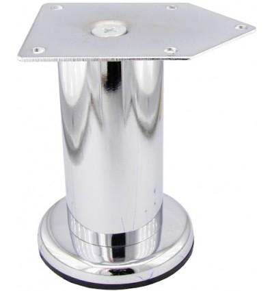 Picior metalic Cilindric pentru mobilier D:42 mm, H:200 mm, finisaj crom lucios 1