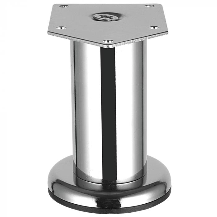 Picior metalic Cilindric pentru mobilier D:42 mm, H:200 mm, finisaj crom lucios 0