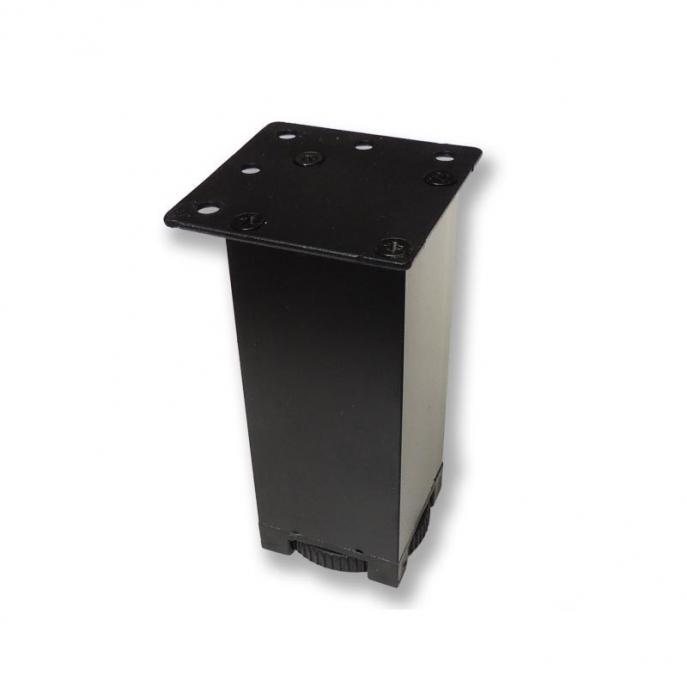 Picior metalic pentru mobilier H:100 mm cu profil patrat 40x40 mm negru 0