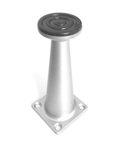 Picior metalic Ayak pentru mobilier H:100 mm, finisaj aluminiu 1