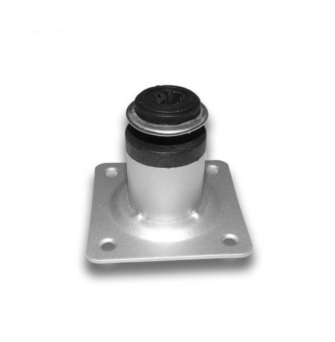 Picior metalic cilindric pentru mobilier H:50 mm, Ø30 mm, finisaj aluminiu 1
